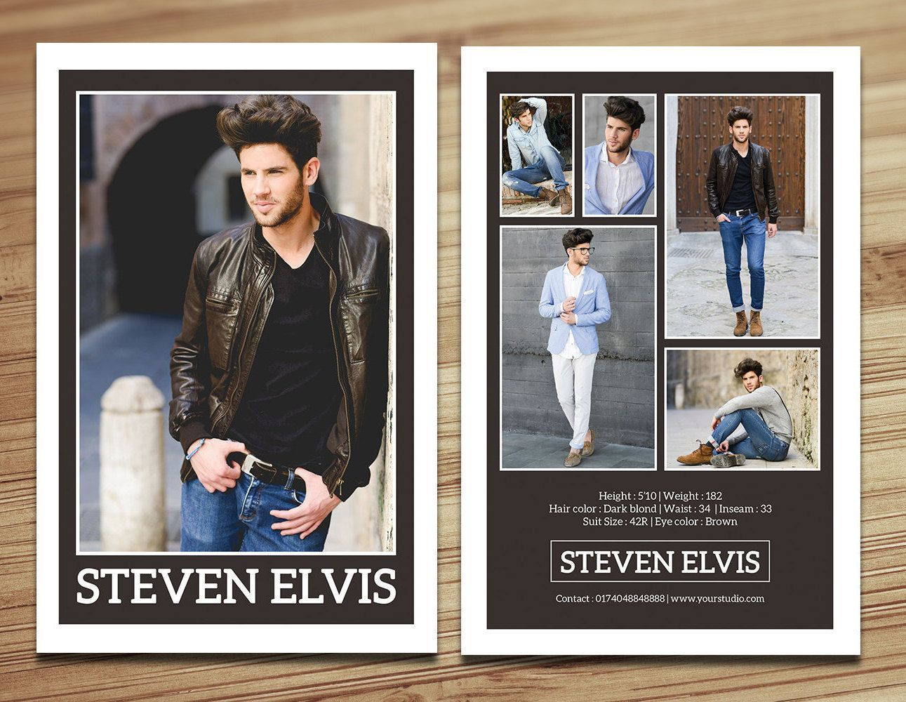 Model Comp Card Template Modeling Comp Card Fashion Card Etsy Model Comp Card Card Templates Free Card Template