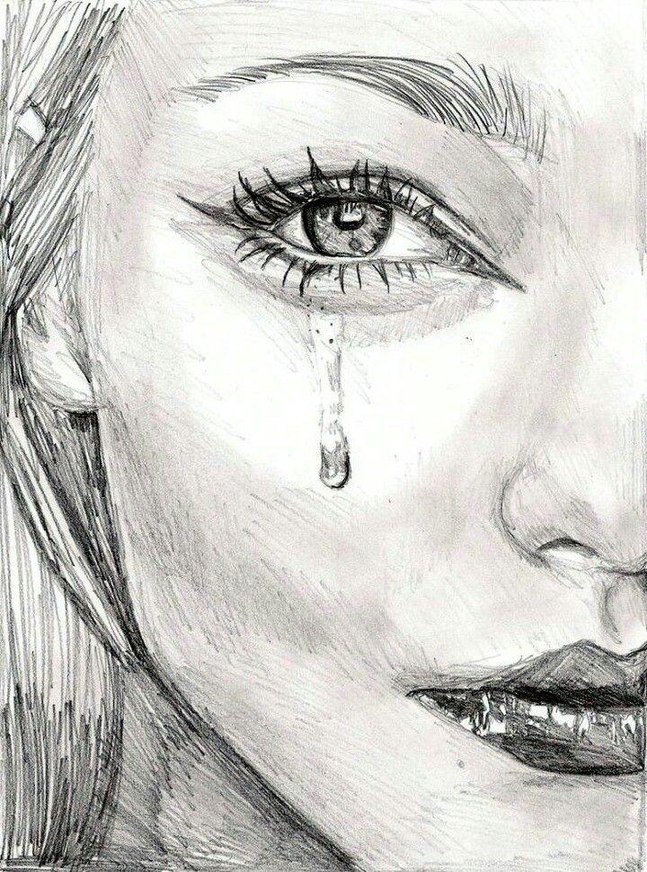 Картинки плачущих девушек для срисовки