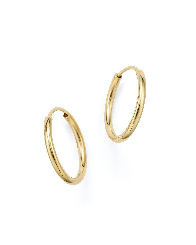 14k Yellow Gold Endless Hoop Earrings 100 Exclusive Bloomingdale S