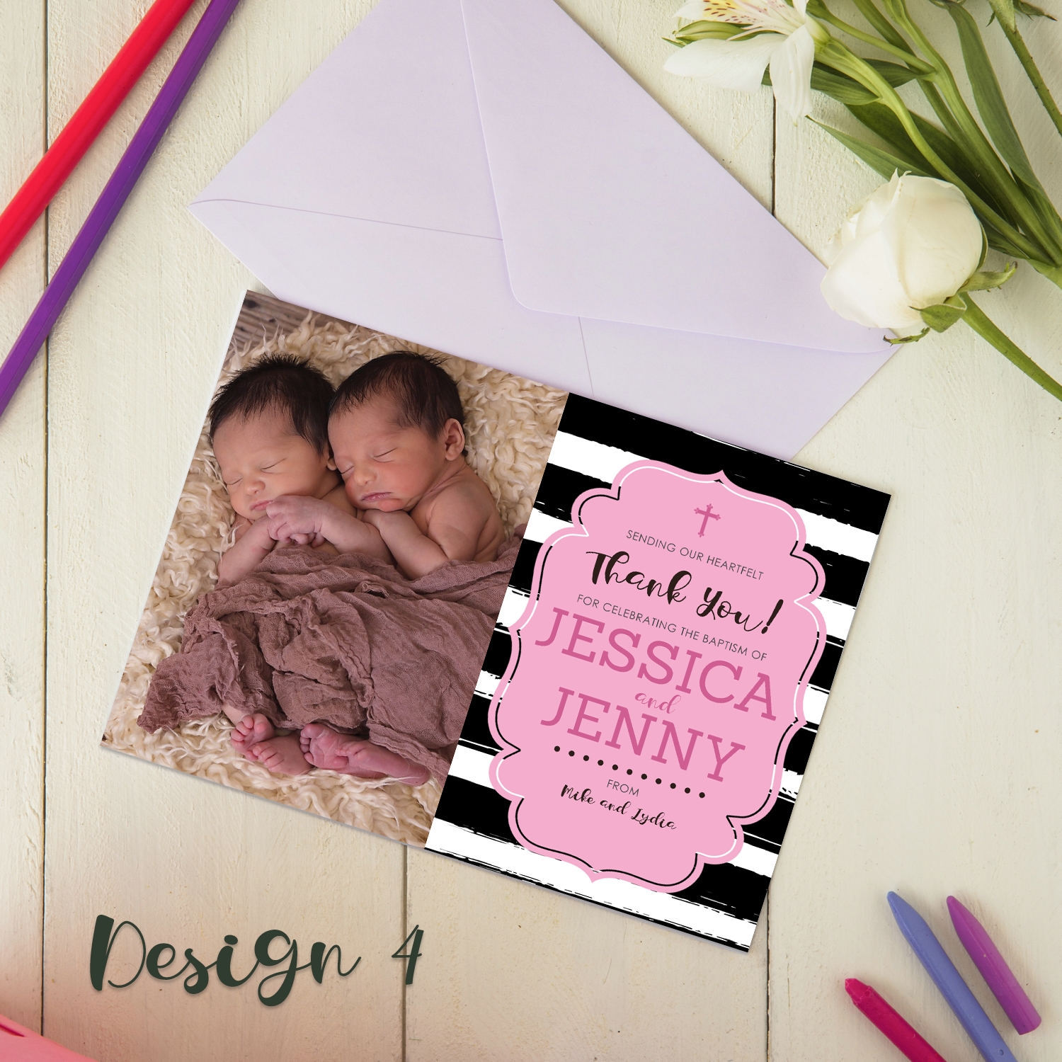 Personalised Christening Invitations Boys Thank You Cards Girls