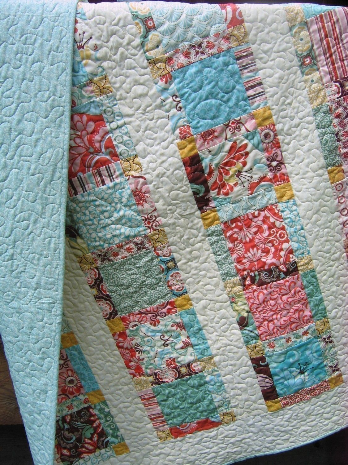 QUILT PATTERN Lap or Twin Coverlet size Easy and by sweetjane