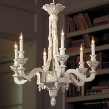 White chandelier home ideas pinterest pedestal sink sinks and white chandeliers are lovely but slick metal can look cold this carved piece has an antique look and you would us a variety of lampshades aloadofball Gallery