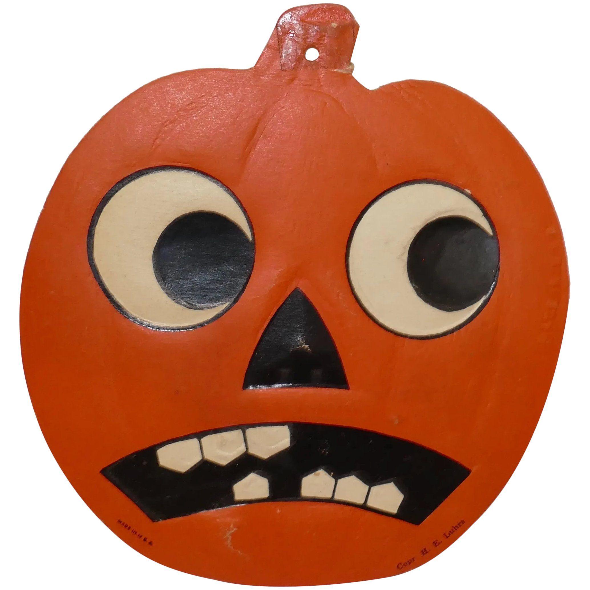 Small Size Jack O Lantern Cardboard Halloween Decoration
