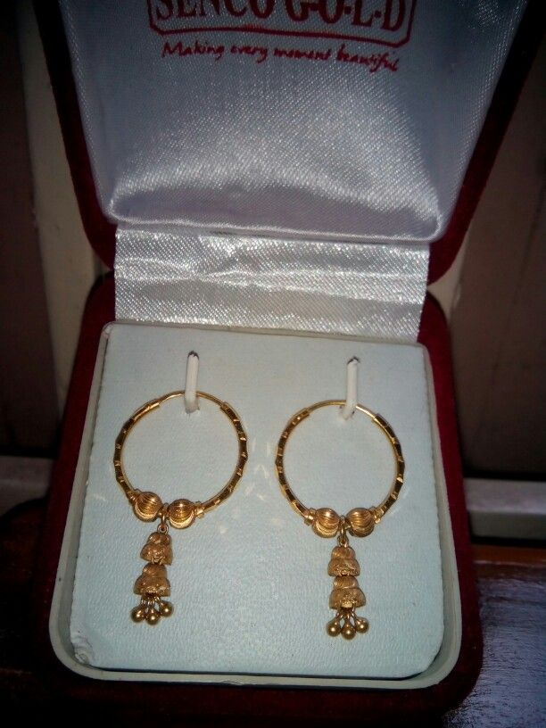 Gold earrings from senco gold | goynar baksho | Pinterest | Gold