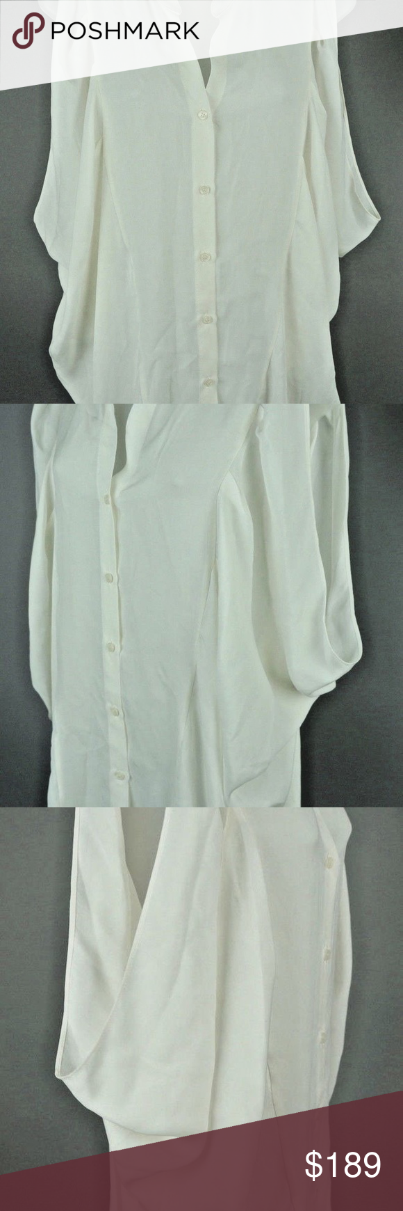 44976e5cbb9415 NWT Emerson Thorpe White Silk Butterfly Shirt NWT $245.00 Emerson Thorpe  White Silk Butterfly Shirt Top Sz: M Condition:New with tags This is one of  the ...