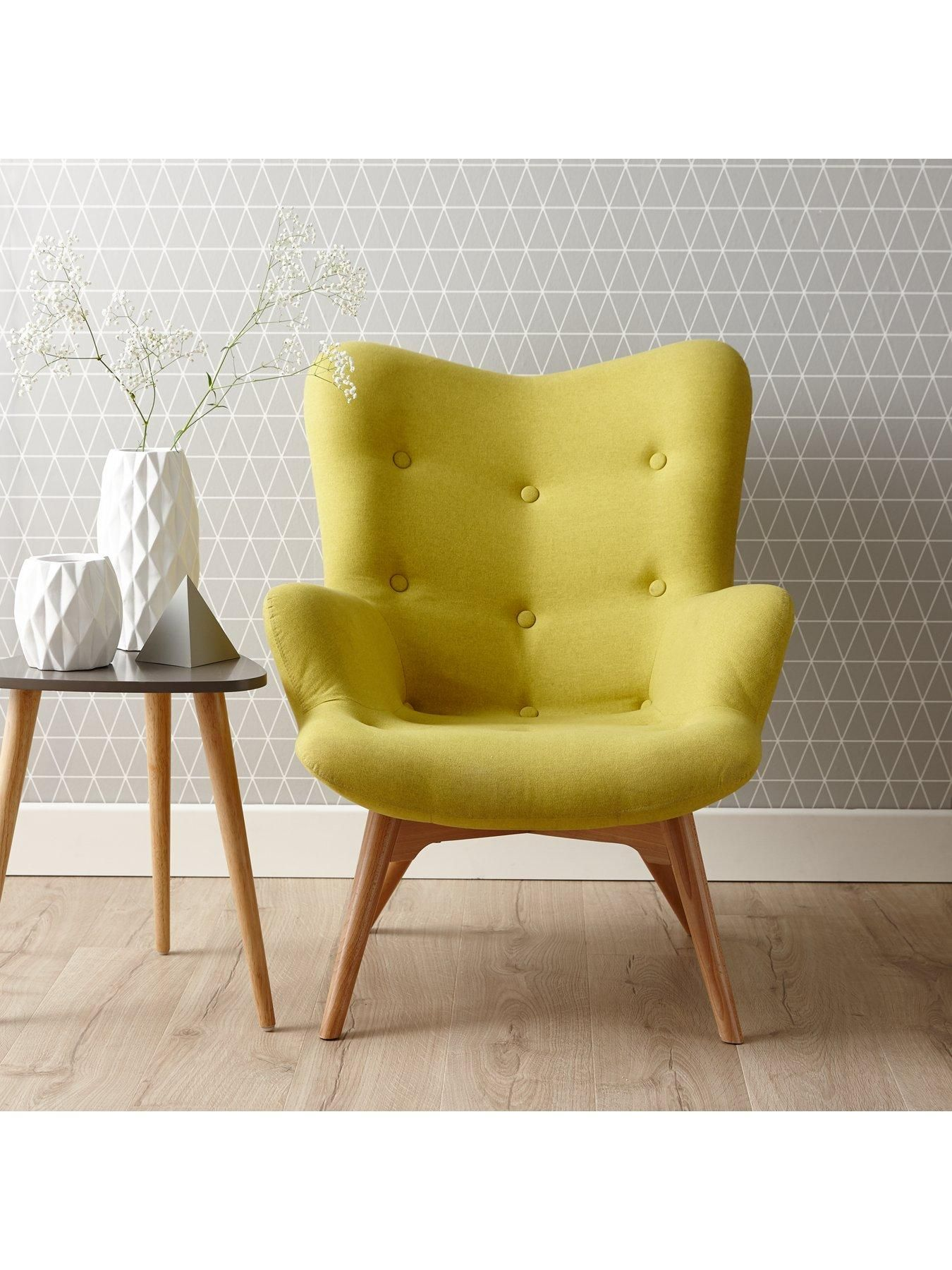 ideal homes furniture. ideal home papillion contour fabric accent chair | very.co.uk homes furniture
