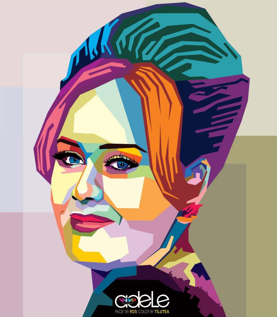wedha 39 s pop art portrait of adele wpap pinterest pop art portraits adele and portraits. Black Bedroom Furniture Sets. Home Design Ideas