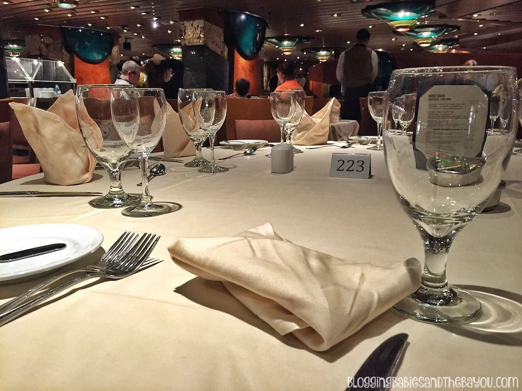 Dining Room With Tablecloths Carnival Cruise Elation  Ship Prepossessing Carnival Cruise Dining Room Menu Design Inspiration