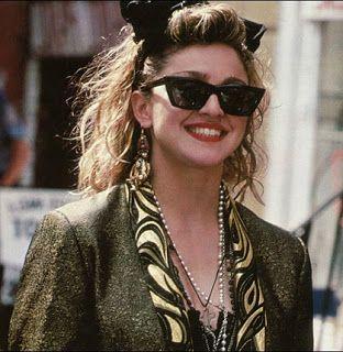 Madonna wearing Wayfarers hair bow headband in the 1980s  80s