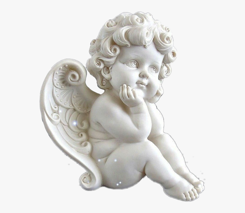 white #angel #aesthetic #carved #statue #tumblr #sculpture - Cherub  Renaissance Baby Angel, HD Png Downlo… in 2020 | Angel baby statue, Cherub  art, Angel statues sculpture