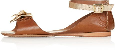 cf18d188fd9 Women s Brown Metallic Bow Sandals