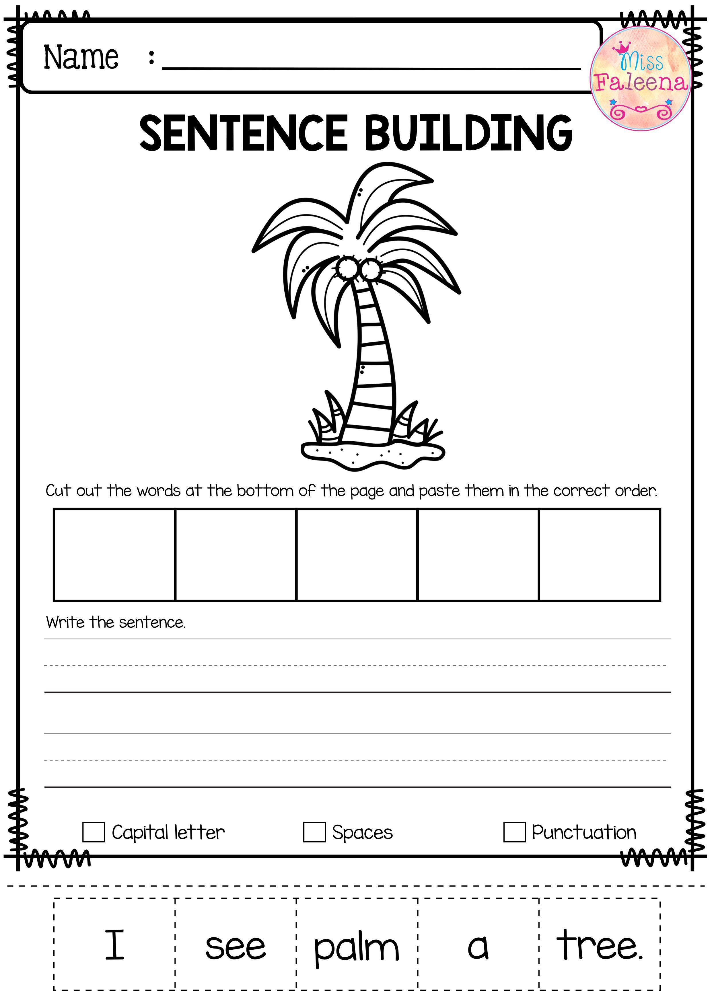 July Sentence Building Sentence Building Writing Skills Kindergarten Reading Centers [ 3456 x 2482 Pixel ]
