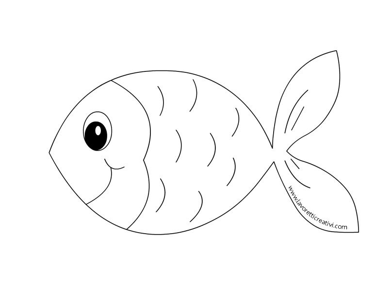 Pesci da disegnare cq54 pineglen for Disegni da colorare pesciolini