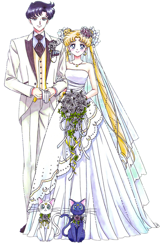 Usagi and Mamoru's romantic Wedding Day | Usagi and Mamoru