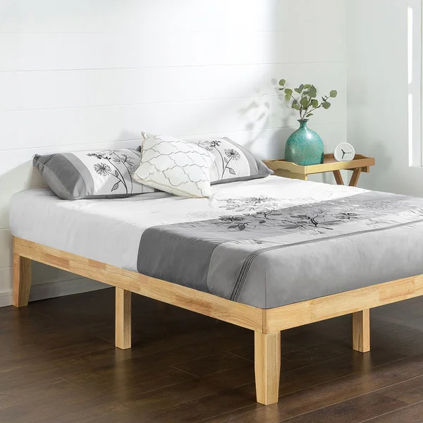 Shop Priage Solid Wood Platform Bed Natural Free Shipping Today