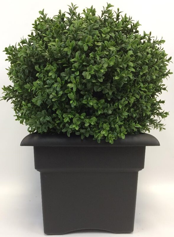 2 Foot Outdoor Artificial Boxwood Ball Topiary Bush Uv Tree With Sb Planter In 2020 Artificial Boxwood Boxwood Tree Topiary Trees