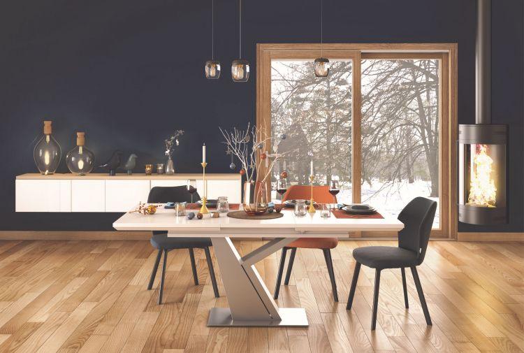 Table Rectangulaire Pied Y Tables De Repas Meubles Gautier En 2020 Table A Manger Contemporaine Table Extensible Blanche Salle A Manger Verre
