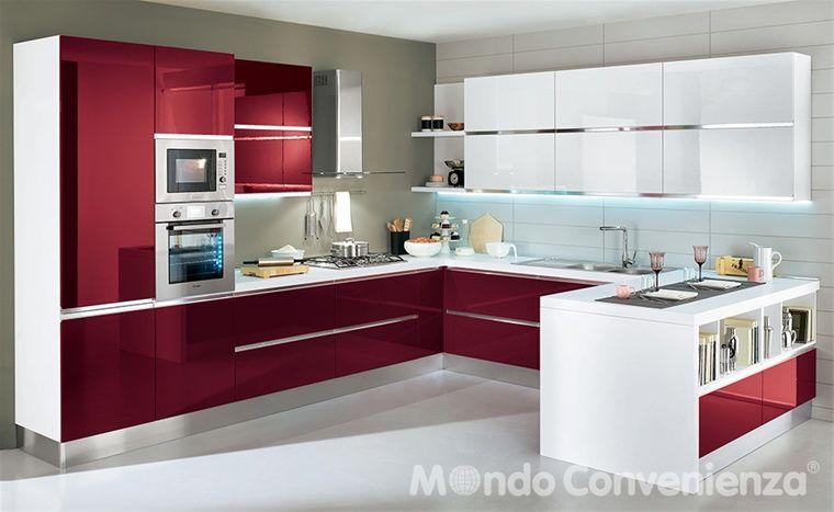 Esta cocina es stile moderno en la cocina esta estufa for Cucina veronica mondo convenienza