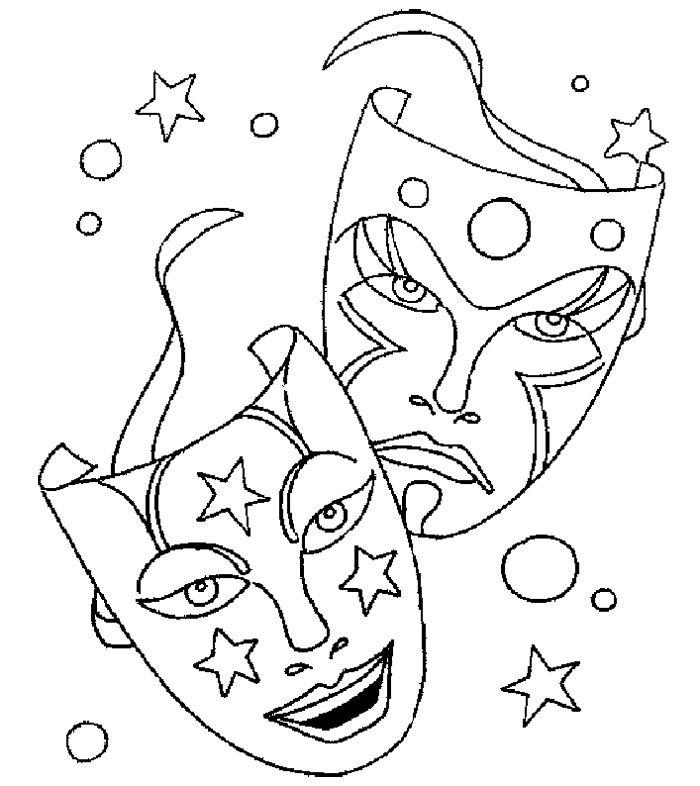 Mardi Gras Mask Coloring Pages Printable  Mardi Gras Masks