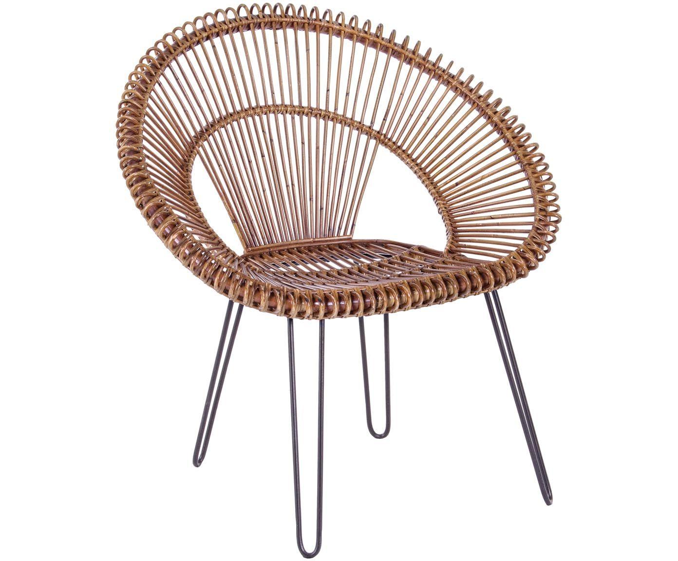 Machen Sie Ihr Wohnzimmer Mit Dem Sessel Esteban Mit Einer Sitzschale Aus  Rattan Zur Wohlfühloase.