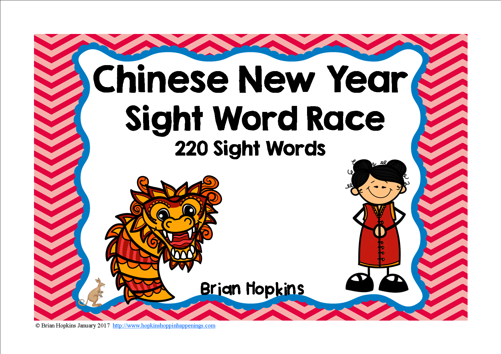 Chinese New Year Sight Word Race
