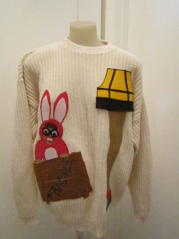 Leg Lamp A Christmas Story Ugly Christmas Sweater Contest