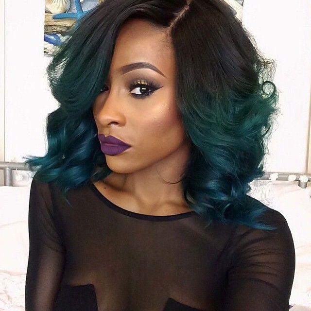 african american hair dip dyed