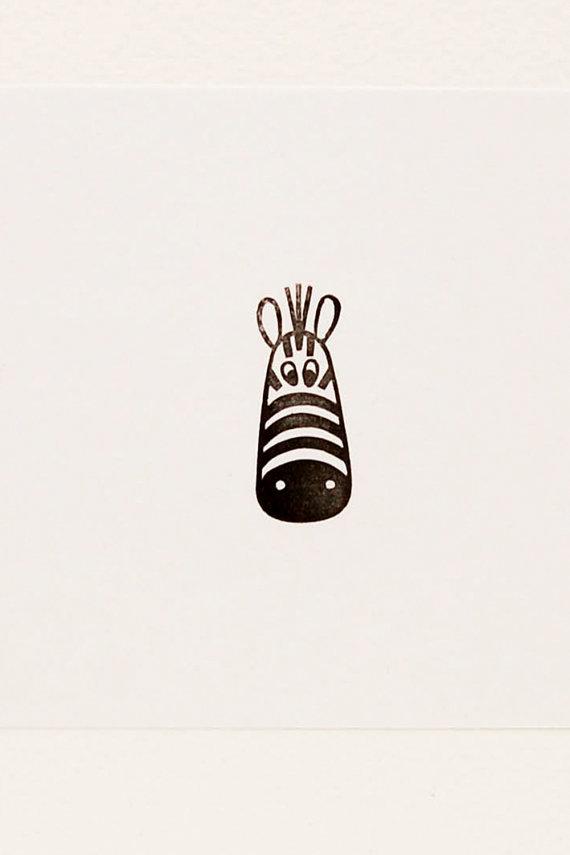Zebra stamp, zebra birthday gift, happy zebra stamp, minimalist stamp, peekaboo stamp, handmade stamps, peekaboo zebra stamp #rubberstamping