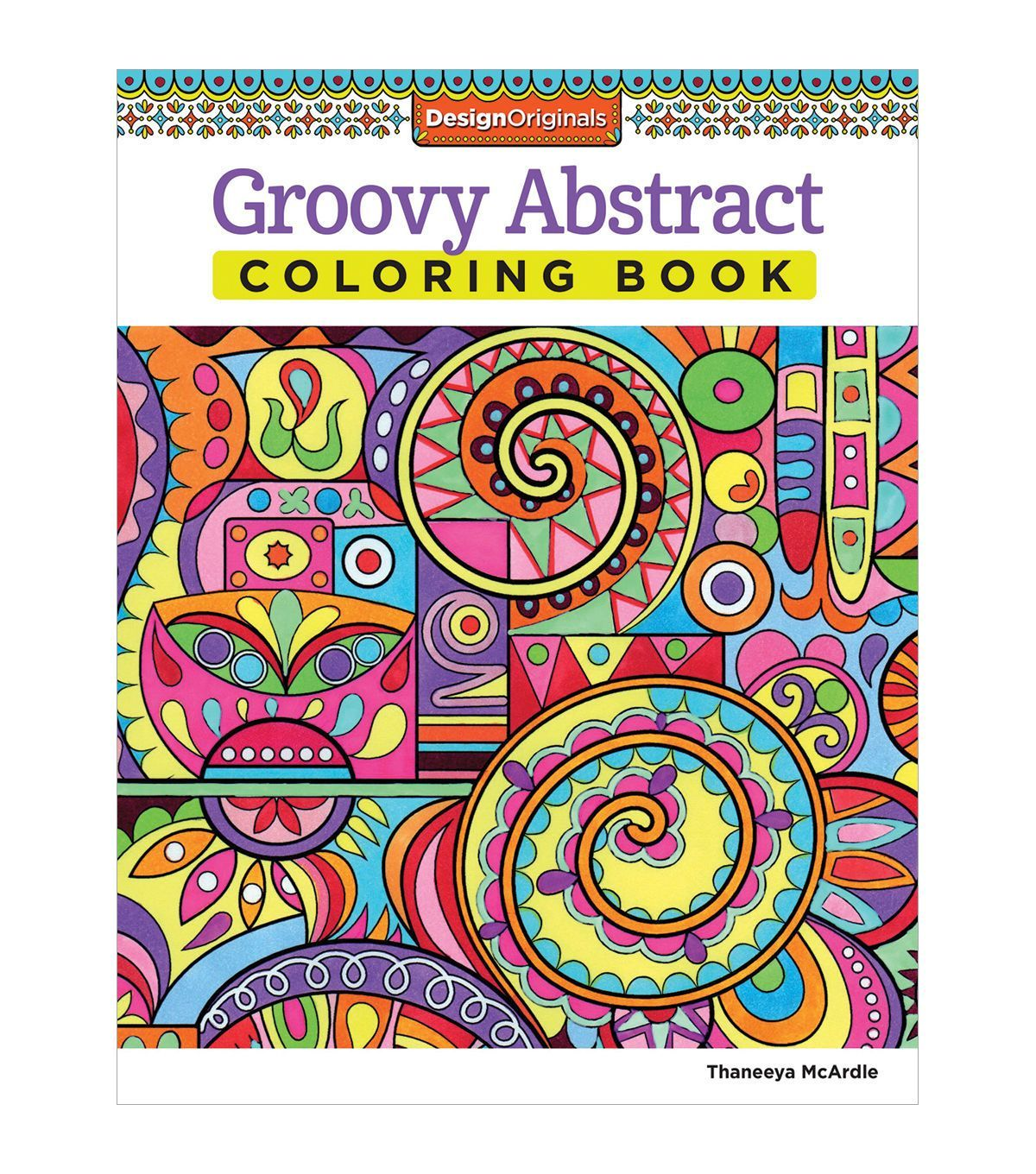 Groovy Abstract Coloring Book | Classeur Coloring book | Pinterest ...