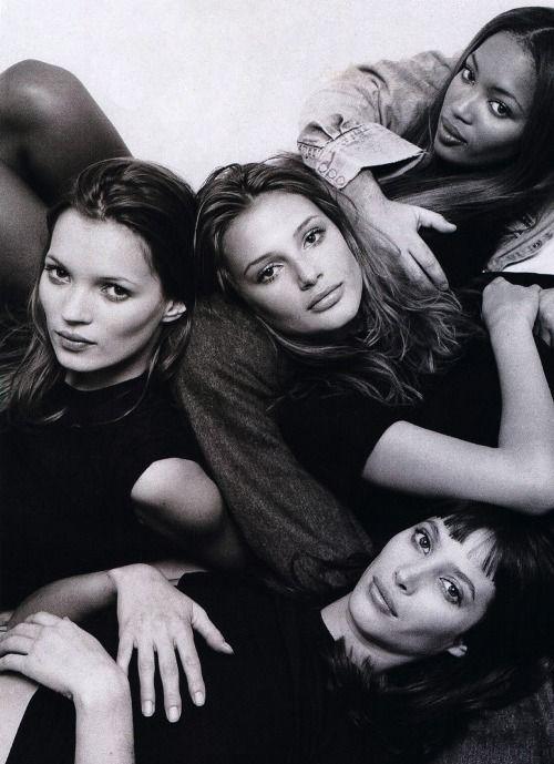 Kate Moss, Bridget Hall, Naomi Campbell and Christy Turlington ... ad7a536dd1