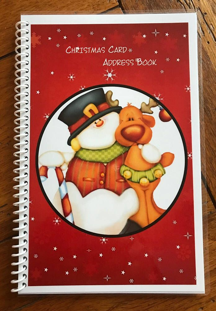 christmas card address book 8 yrs personalized gift