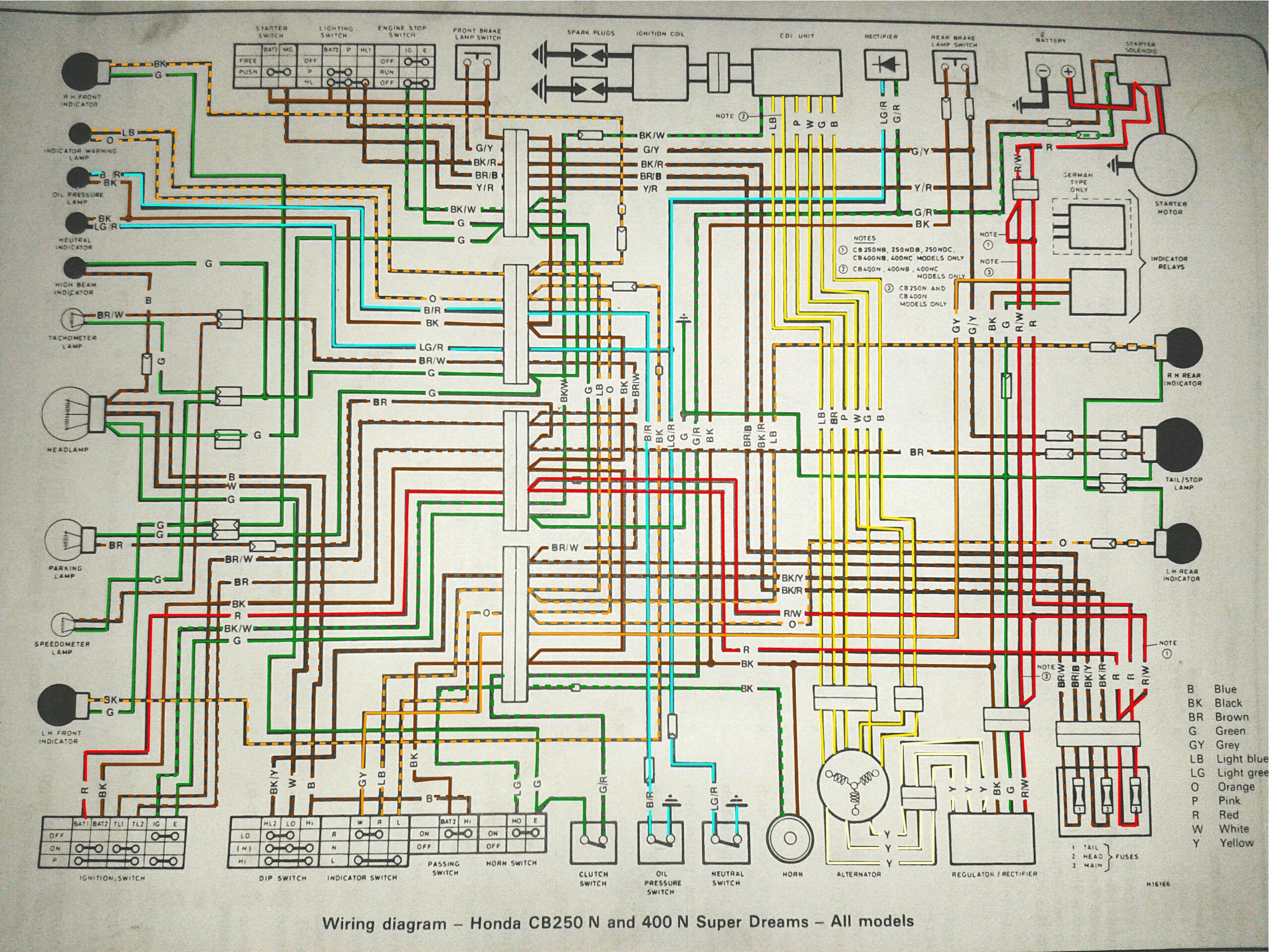 Wiring Diagram Cb400n Colored Cb 450