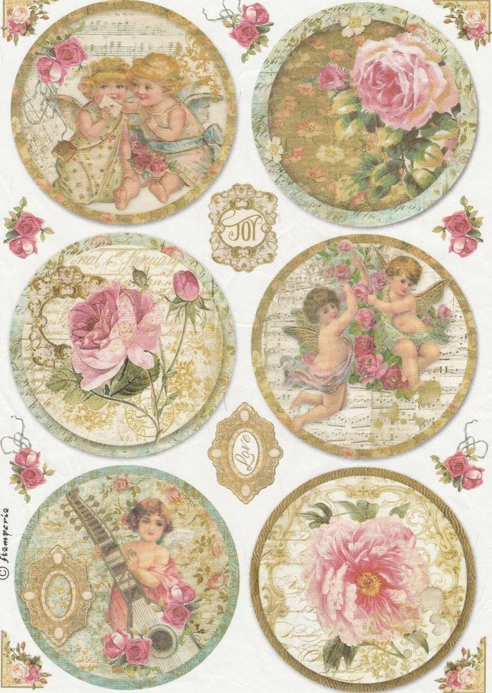 Rice Paper for Decoupage Decopatch Scrapbook Craft Sheet Vintage Post Cards