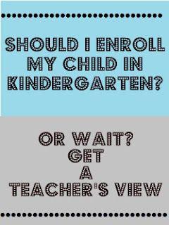 Kindergarten: Enroll or Wait? a Kinder Teacher's Perspective
