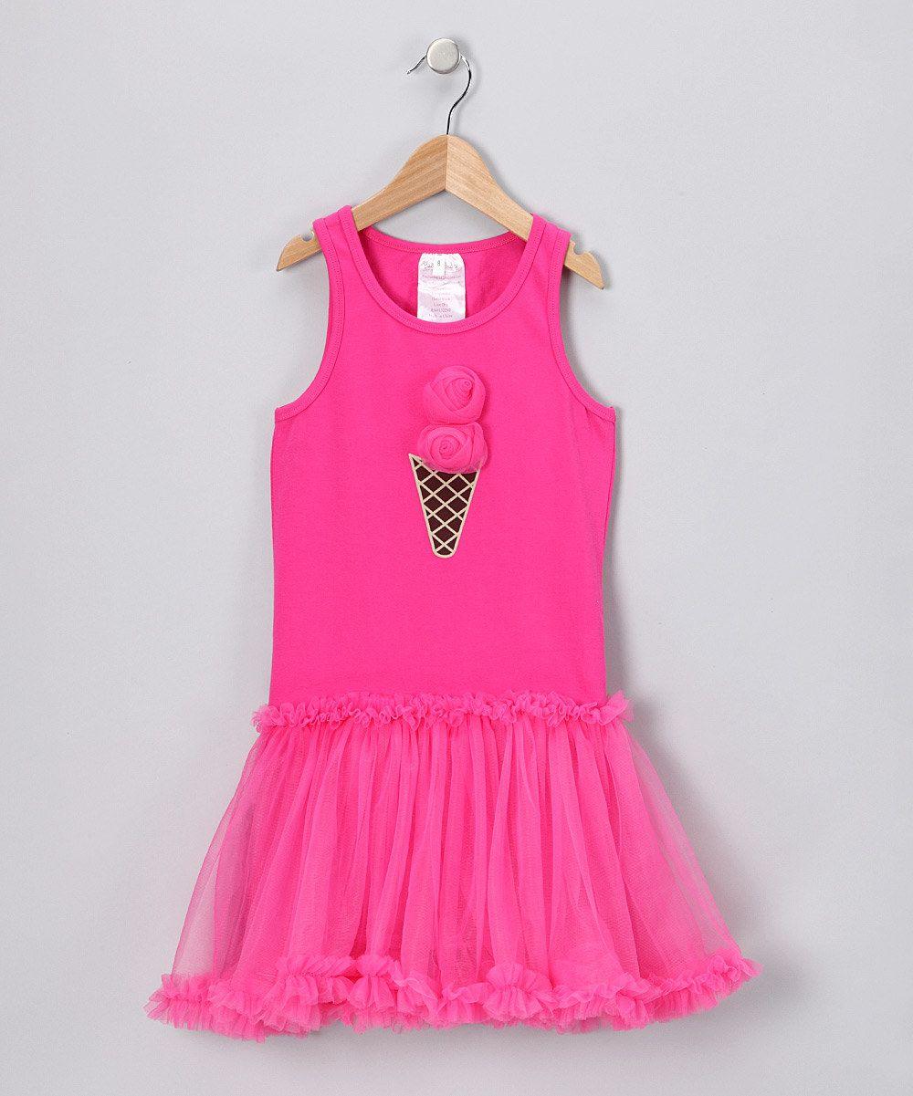 Fuchsia Ice Cream Dress - Toddler & Girls