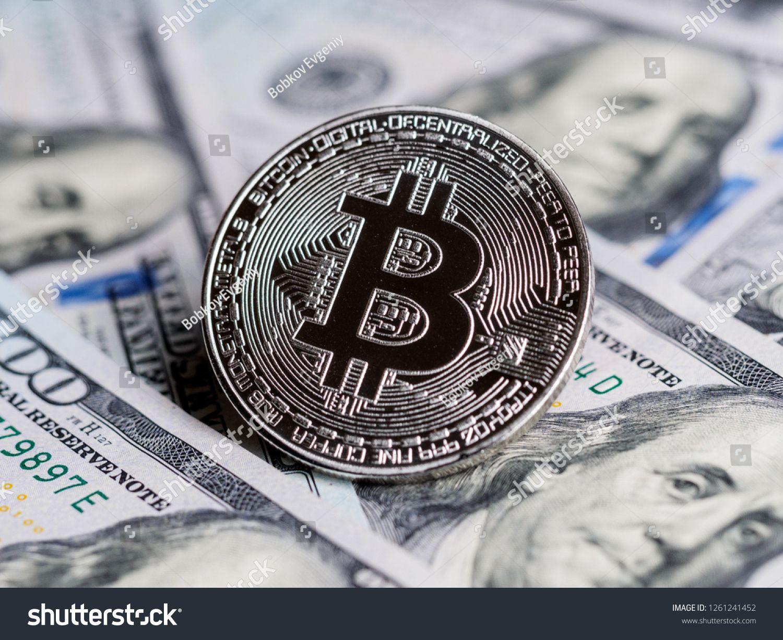 Banknotes Of Dollars Exchange Bitcoin