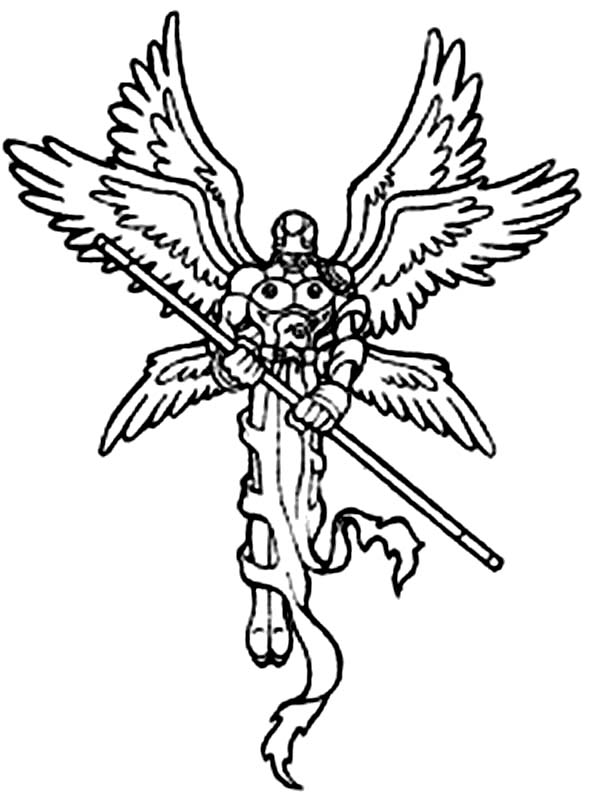 Digimon Angemon Hold Long Stick Ready To Attack Coloring Page Coloring Sun In 2020 Digimon Tattoo Coloring Pages Pirate Coloring Pages