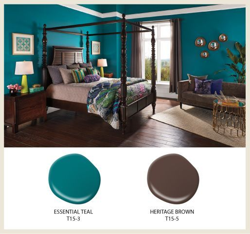 Petrol Wandfarbe Schlafzimmer: Essential Teal Bedroom - Google Search In 2019
