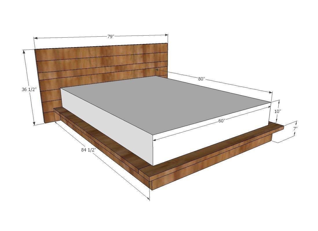 Rustic Modern 2x6 Platform Bed Diy Platform Bed Build A
