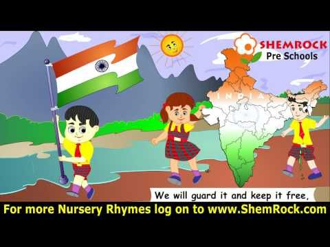 Nursery Rhymes This Is Our Flag Songs With Lyrics Nursery Rhymes Rhymes Rhyming Poems