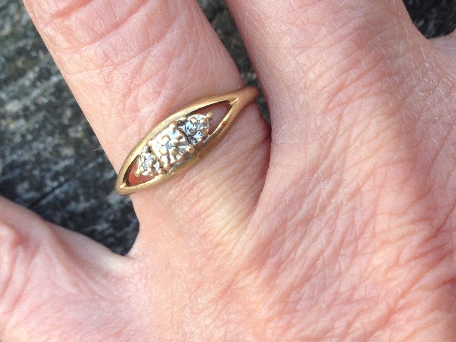 Vintage 10 KT Gold small diamond ring. I bought this in the early ...