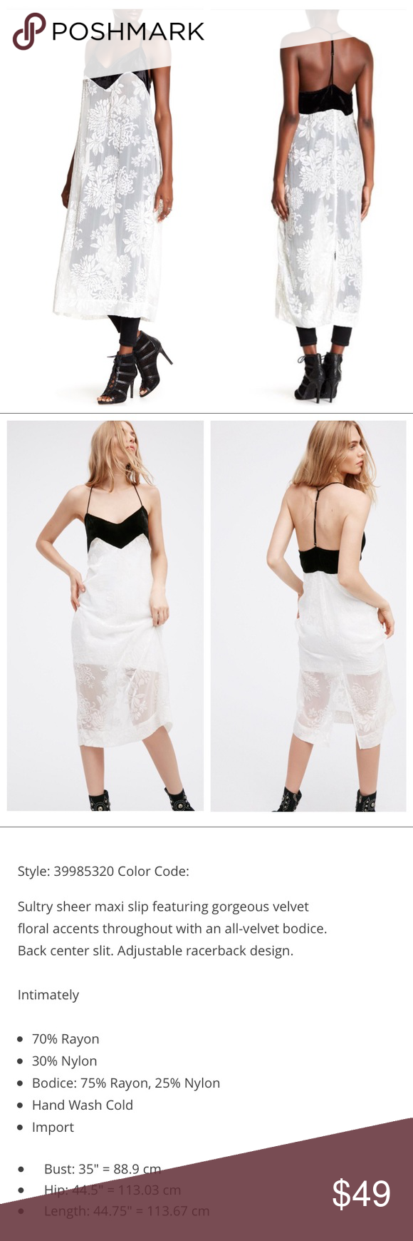 Its Called Fashion People: Free People Ivory Maxi Floral Slip Dress Adorable Maxi