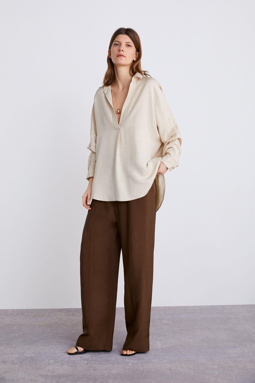 b2b0d49e3 KNOT PRINT SHIRT - Collection-TIMELESS-WOMAN-CORNER SHOPS | ZARA United  States | Clothes in 2019 | Printed shirts, Shirts, Knots