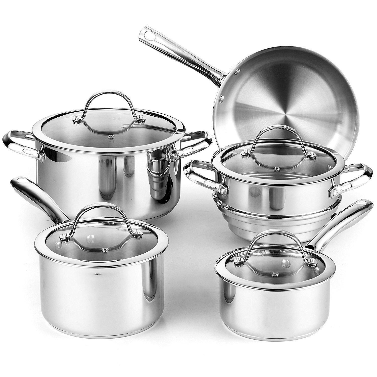 Stainless Steel Cookware Set Oven Dishwasher Safe