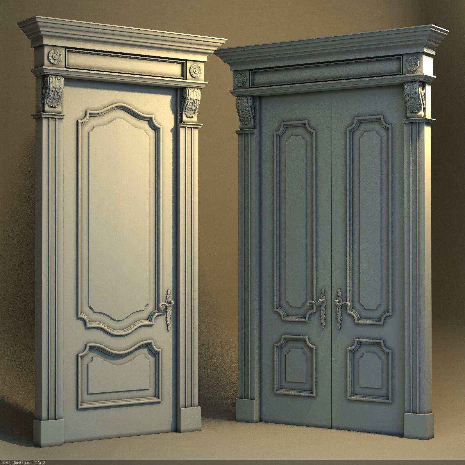 Exterior: Classic Door 3d Model