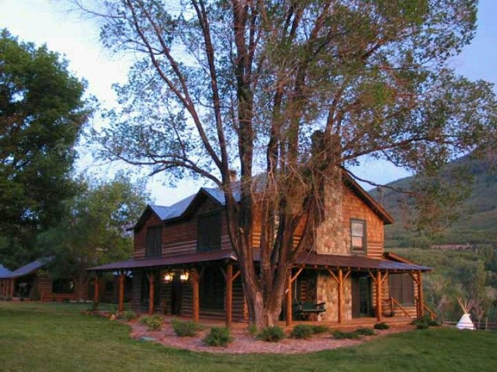 Ranch house wrap around porch home pinterest for Ranch with wrap around porch