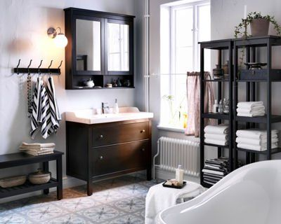 Salle de bain hemnes id es new home pinterest - Idee salle de bain ikea ...