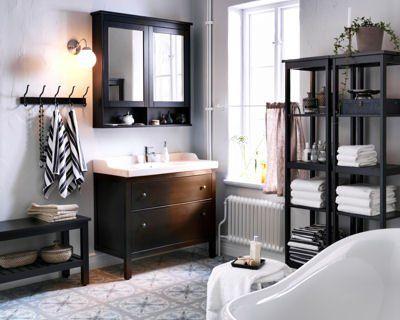 salle de bain hemnes Idées new home Pinterest Lofts - ikea meuble salle de bain godmorgon