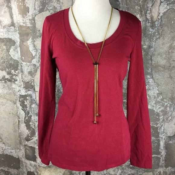 Kenneth Cole Reaction red maroon long sleeve shirt Preloved. Good condition. Size medium. Tag size rubbed off. Cozy and cute! Little bit of a pink look. Kenneth Cole Reaction Tops Tees - Long Sleeve