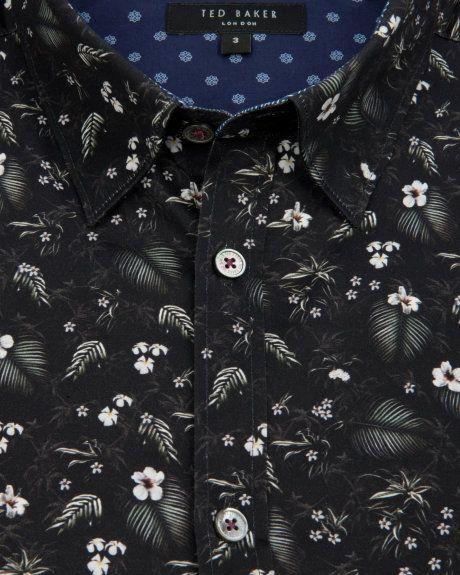 813e2ef72f5 NOFACE | Floral print shirt - Black | Shirts | Ted Baker UK ...